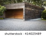 nice car garage on the... | Shutterstock . vector #414025489