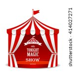 Circus Tent Isolated  On White...