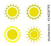 sun icon | Shutterstock .eps vector #414028795