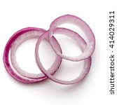 Sliced Red Onion Rings Isolate...