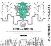 modern petrol industry thin... | Shutterstock .eps vector #414031861