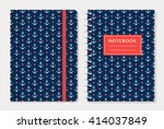 notebook cover design. notepad... | Shutterstock .eps vector #414037849