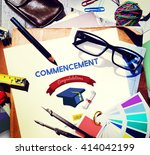 education achievement college... | Shutterstock . vector #414042199