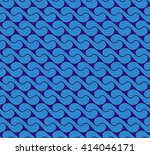 seamless pattern with waves yin ... | Shutterstock .eps vector #414046171