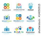 school logo set. education logo ... | Shutterstock .eps vector #414050515