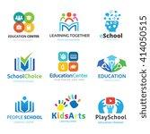 school logo set. education logo ... | Shutterstock .eps vector #414050515