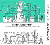 modern petrol industry thin... | Shutterstock .eps vector #414054121