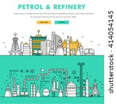 modern petrol industry thin... | Shutterstock .eps vector #414054145