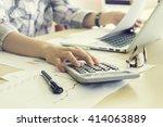 businessman analyzing... | Shutterstock . vector #414063889