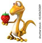 fun lizard | Shutterstock . vector #414065089