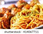 spaghetti and meatballs | Shutterstock . vector #414067711