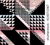 cute vector geometric seamless... | Shutterstock .eps vector #414071587