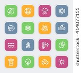 green ecology web icons set | Shutterstock .eps vector #414077155