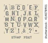 vector latin grunge alphabet.... | Shutterstock .eps vector #414078901