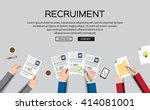 human resource or hr management ... | Shutterstock .eps vector #414081001