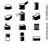 cans food canned goods icons....