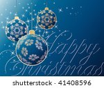 happy christmas card blue | Shutterstock .eps vector #41408596