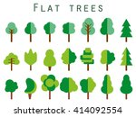 trees set in a flat design.... | Shutterstock .eps vector #414092554