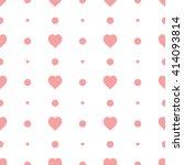 pink seamless heart pattern | Shutterstock .eps vector #414093814