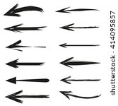 hand drawn arrows set | Shutterstock .eps vector #414095857