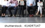 stressful people waiting for... | Shutterstock . vector #414097147