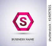 s letter logo icon design... | Shutterstock .eps vector #414097831