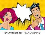 wow couple. attractive... | Shutterstock .eps vector #414098449