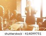 meeting corporate success... | Shutterstock . vector #414099751