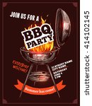 bbq barbecue vintage color... | Shutterstock .eps vector #414102145