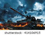 Three Tanks Under Fire From...