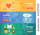medical and health banners set. ... | Shutterstock .eps vector #414107029