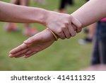 many handshake | Shutterstock . vector #414111325