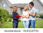 real estate agent woman with... | Shutterstock . vector #414123751