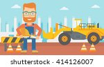 engineer with hard hat and... | Shutterstock .eps vector #414126007