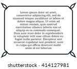 border frame line deco vector... | Shutterstock .eps vector #414127981