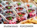 catering food | Shutterstock . vector #414134404