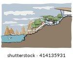 section of resort sketch  ... | Shutterstock .eps vector #414135931