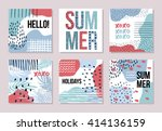 stationary collection of vector ... | Shutterstock .eps vector #414136159