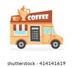 street food truck vector... | Shutterstock .eps vector #414141619