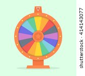 wheel of fortune vector... | Shutterstock .eps vector #414143077