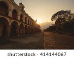antigua city at sunset in...   Shutterstock . vector #414144067
