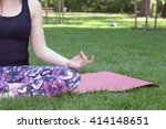 woman doing yoga | Shutterstock . vector #414148651