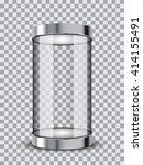 isolated realistic empty glass... | Shutterstock .eps vector #414155491