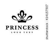princess crown logo design | Shutterstock .eps vector #414157507