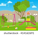 colorful children's playground... | Shutterstock .eps vector #414162691