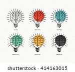 six thinking hats concept... | Shutterstock .eps vector #414163015