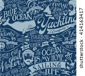 nautical elements vector... | Shutterstock .eps vector #414163417