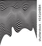 optical art opart striped wavy...   Shutterstock .eps vector #414164884