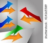 vector set arrows detached from ... | Shutterstock .eps vector #414165589