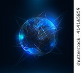 abstract  earth . sci fi globe... | Shutterstock .eps vector #414165859